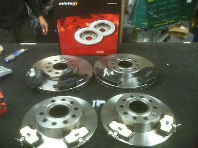 VW TOURAN 2.0TDi BRAKE DISC PADS FRONT REAR MINTEX BRAKE DISCS & PAD 288mm & 256