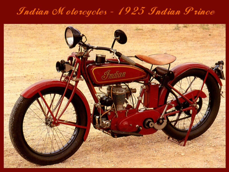 INDIAN MOTORCYCLES 1925 INDIAN PRINCE RETRO REPRODUCTION PROMO POSTER