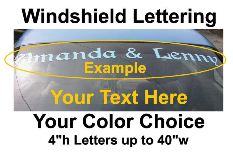 Windshield Lettering Vinyl Decal Sticker your text custom window car truck suv