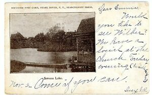 Pearl River NY - DOCK AT SERVENS LAKE - Postcard