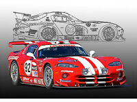 "HUGE 2013 DODGE VIPER SRT RED INTERIOR COCKPIT SPORT CAR PHOTO 24/""X36/"" MAN CAVE"