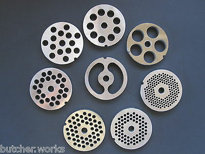 12 Stainless Meat Grinder Plate Screen Die Adcraft Choprite Pick Your Size
