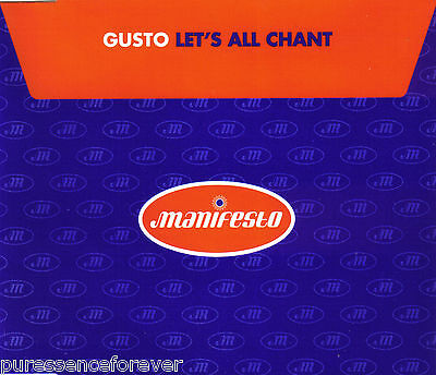 Gusto   Lets All Chant  Uk 5 Track Cd Single
