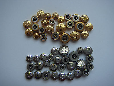 Omega crowns NOS different Men size Total 50pieces. 25 goldfill & 25 SS Tap 90.