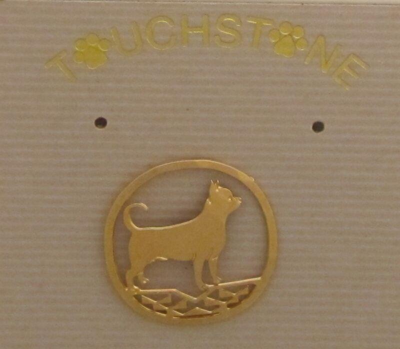 Chihuahua Jewelrly Small Gold Pin