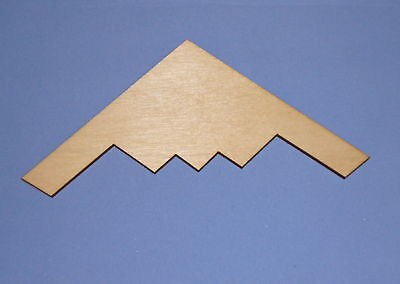 STEALTH AIRPLANE Unfinished Wood Shapes Cut Outs SA1020