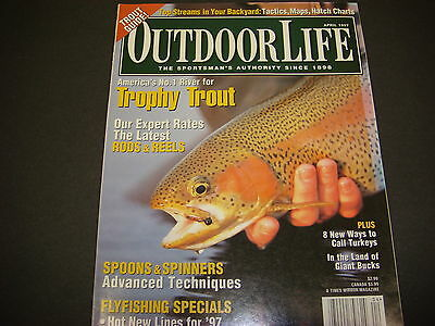 Outdoor Life Magazine April 1997 Trophy Trout Guide Spoons & Spinners M3543