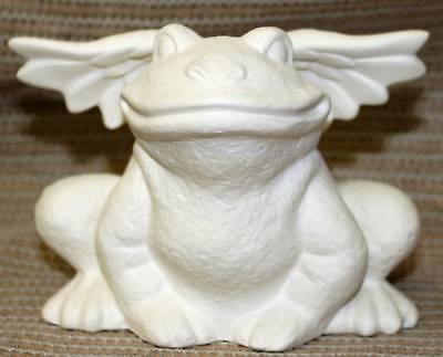 Ceramic Bisque Winged Frog Scioto Mold 3168 U-Paint Ready To Paint