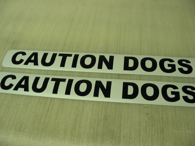 CAUTION DOGS Magnetic Sign 4 Car Truck Badge Police K-9 Fire k9 Search & Rescue