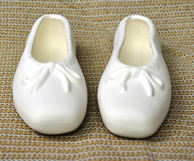 Ceramic Bisque Large Ballet Slippers Holland Mold 2312 U-Paint Ready To Paint