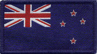 New Zealand Flag Woven Badge Patch 8 x 4.5cm