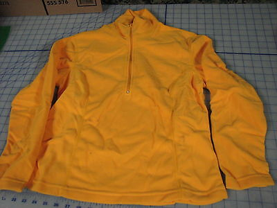 yellow color womens polyester pullover micro fleece SMALL vermont sports cut 1cead8932
