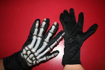 Glow In The Dark Monster Skeleton Hands Accessory Adult