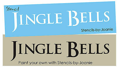 Country Primitive Stencil Jingle Bells Sleigh Ride Winter Christmas Song Signs  ()