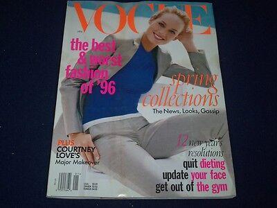 1997 January Vogue Magazine   Amber Valletta   Fashion Super Models   F 756