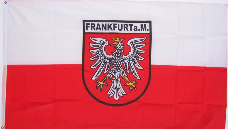 NEW 3ftx5ft FRANKFURT GERMAN GERMANY YARD FLAG
