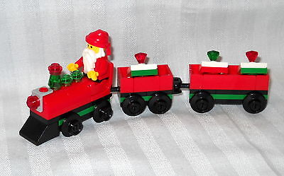 NEW CUSTOM LEGO CHRISTMAS TRAIN WITH SANTA RIDING, DELIVERING PRESENTS, GIFTS