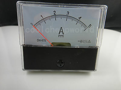 Analog Amp Panel Meter Current Ammeter Dc 0-10a 10a
