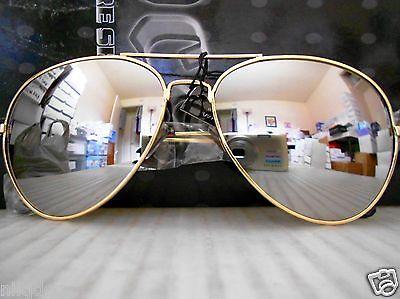 Mirrored Aviator Sunglasses Silver Mirror Lenses Gold Metal (Aviator Sunglasses Silver Frame)