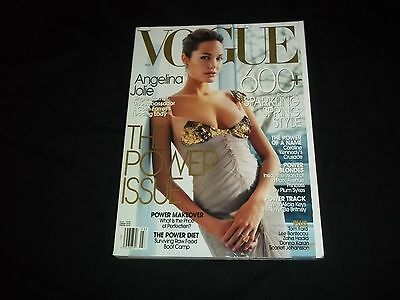 2004 MARCH VOGUE MAGAZINE - ANGELINA JOLIE - THE POWER ISSUE 600 PGS - C 3274