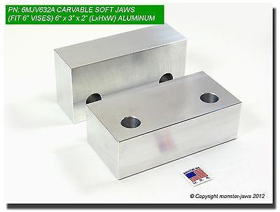 6 X 3 X 2 Standard Aluminum Machinable Soft Jaws For 6 Kurt Vises 6mjv632a