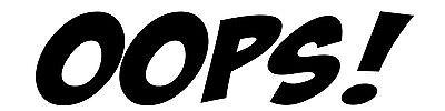 OOPS Funny Car/Window/Bumper Drift JDM Euro Dub Vinyl Decal Sticker