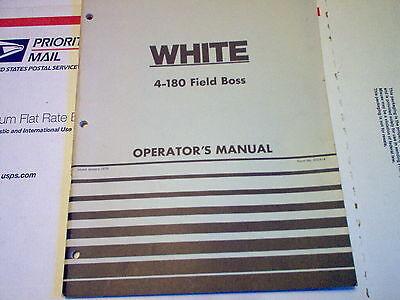 4-180 Field Boss White Tractor Operators Manual Original