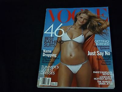 1999 MAY VOGUE MAGAZINE - CARMEN KASS - FASHION SUPER MODELS - C 1490