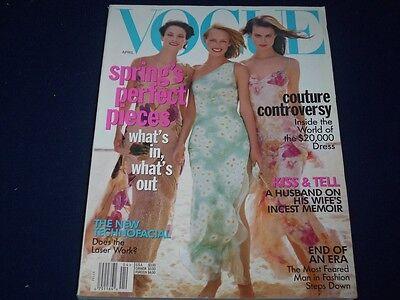 1997 April Vogue Magazine   Amber Valletta   Fashion Super Models   F 759