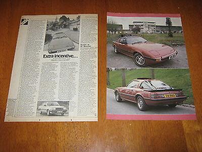 Mazda RX7 Article also Mazda 626