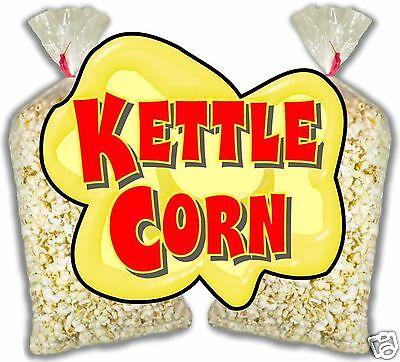 Kettle Corn Korn Concession Food Truck Cart Stand Menu Decal Sticker 14