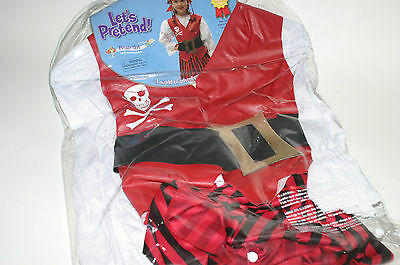 Girl Pirate Outfit (Small Miracles Lets Pretend Pirate Girl Dress Up Costume Halloween Outfit 3-8)