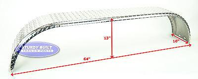 10 Aluminum Boat - (Qty 2)- Boat Trailer Aluminum Diamond Plate Tandem Axle Fenders 10