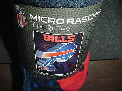 BUFFALO BILLS House NFL Bed Micro Raschel Blanket Throw 46X60 Couch Soft Buffalo Bills Nfl Bed