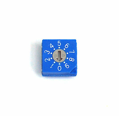 5pc Rotary Dip Switch Bcd Code Rs30012 09 Scale 10x10x4.7mm Hampolt Taiwan