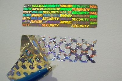 1000 Security Yellow Svag Hologram Warranty Label Stickers Tamper Evident Seals
