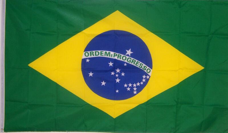 NEW 2X3ft BRAZIL BRAZILIAN FLAG  better quality usa seller