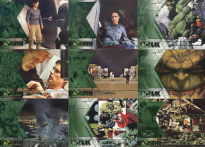 THE INCREDIBLE HULK MOVIE 2003 UPPER DECK COMPLETE BASE CARD SET OF 81 MARVEL