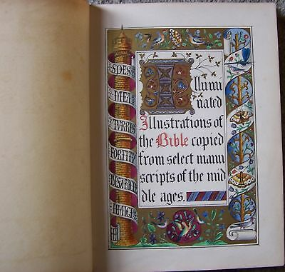 Medieval Kings Library Illuminated Manuscript Church Bible Psalter Lithograph AO