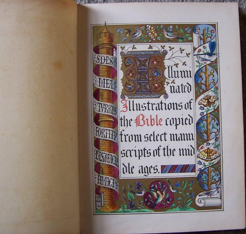 Medieval Kings Library Illuminated Manuscript Church Bible Psalter Lithograph AO