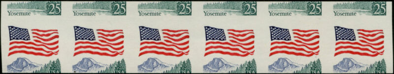 """#2280a """"flag"""" Imperf And Miscut Strip Of 6 Major Error Bp6916"""