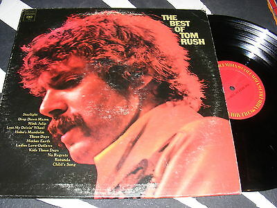 THE BEST OF TOM RUSH Clean 75 Columbia Records Folk Country Singer Songwriter