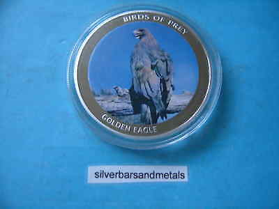 GOLDEN EAGLE BIRDS PREY MALAWI 2010 10 KWACHA COLORED COIN RARE ITEM