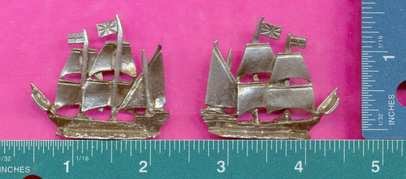 6 wholesale lead free pewter mayflower ship figurines D4127