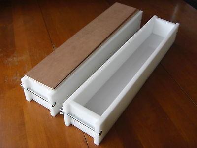 2 HDPE 6 LB Molds 21 Bar - 42 Bars Soap Mold Set Yline Wood Wooden Lids