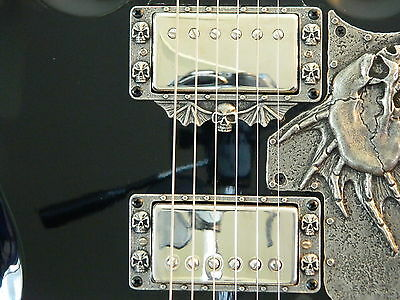 SKULL HUMBUCKER PICKUP RINGS fit gibson Epiphone SG g400 guitar custom special for sale  Shipping to Canada