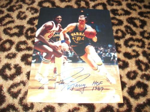 Rick Barry Signed Autographed Basketball 8x10 Photo GA