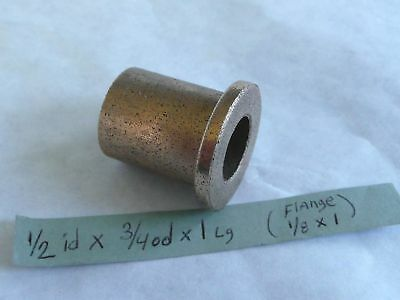 Oilite Flange Bushing Bronze New 12 Id X 34 X 1 Brass Bearing Shim Spacer Fb1