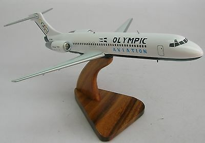 B-717 Olympic Air B717 Airplane Desktop Kiln Dry Wood Model Regular New for sale  Shipping to Canada