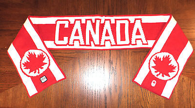 LONDON 2012 OLYMPIC PARALYMPIC HBC TEAM CANADA RED & WHITE SCARF Adult O/S NWT